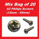 A2 Philips Screws (M6 mixed bag  of 20) - Kawasaki W650